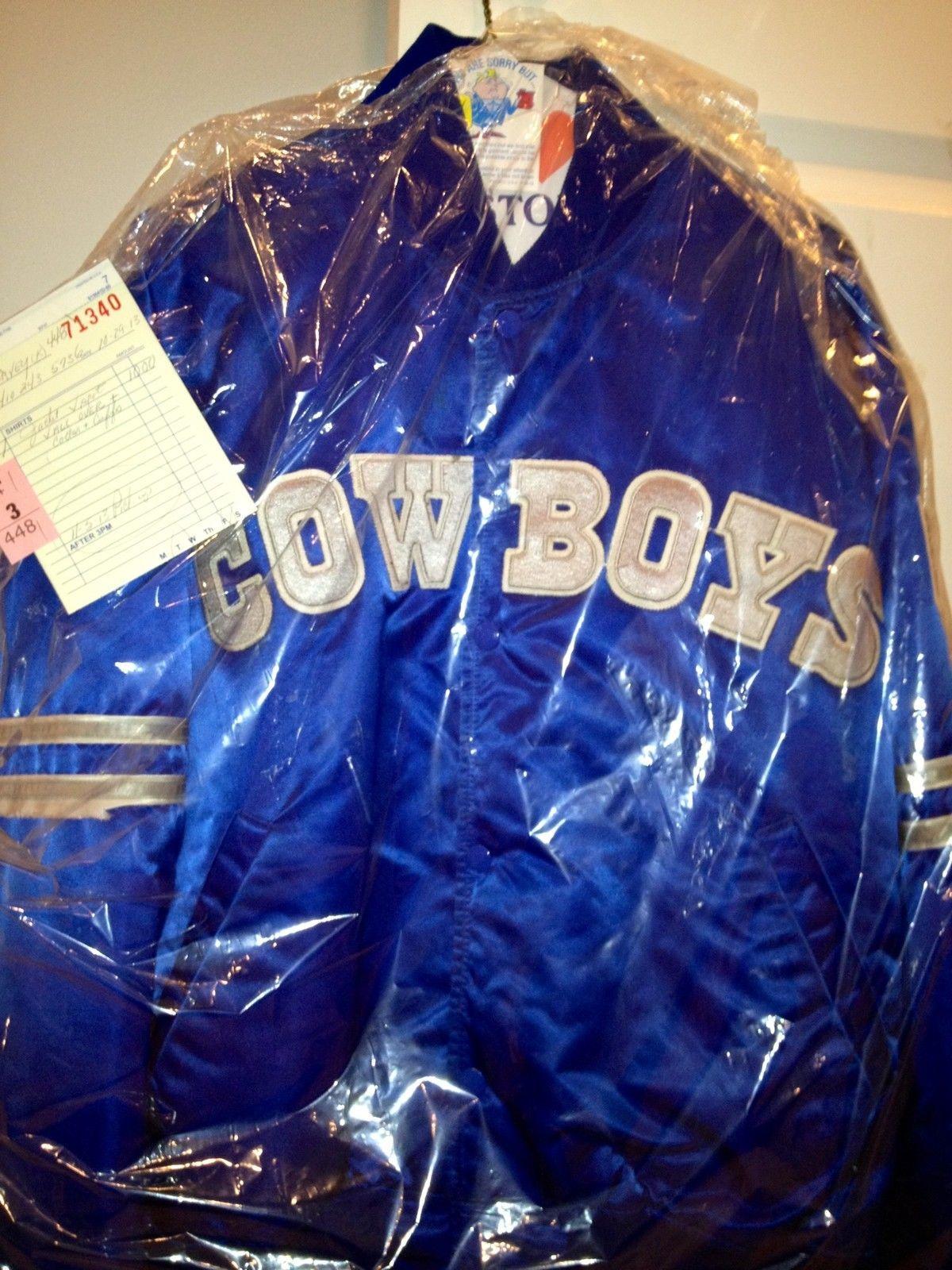 new product c2b1a 0967c DALLAS COWBOYS STARTER JACKET***VINTAGE NFL PROLINE*** SATIN ...