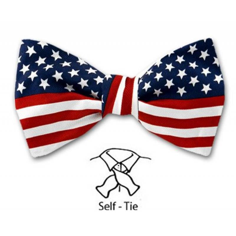 Self Tie Bow Tie Red American Flag Bow Bows Flag Bow Tie