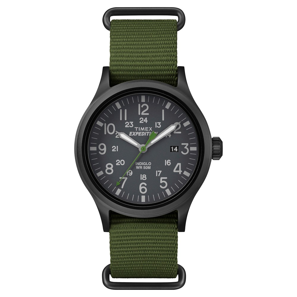 117dcc3e30d4f Men s Timex Expedition Scout Watch with Nato Nylon Strap - Black Green  TW4B047009J