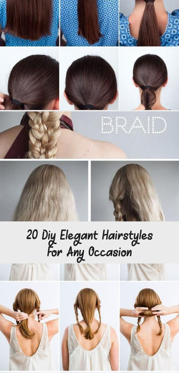 18 DIY Elegant Hairstyles For Any Occassion hairtutorialPainting ...