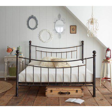 Premier Abbey Metal Platform Bed Frame With Bonus Base Wooden Slat