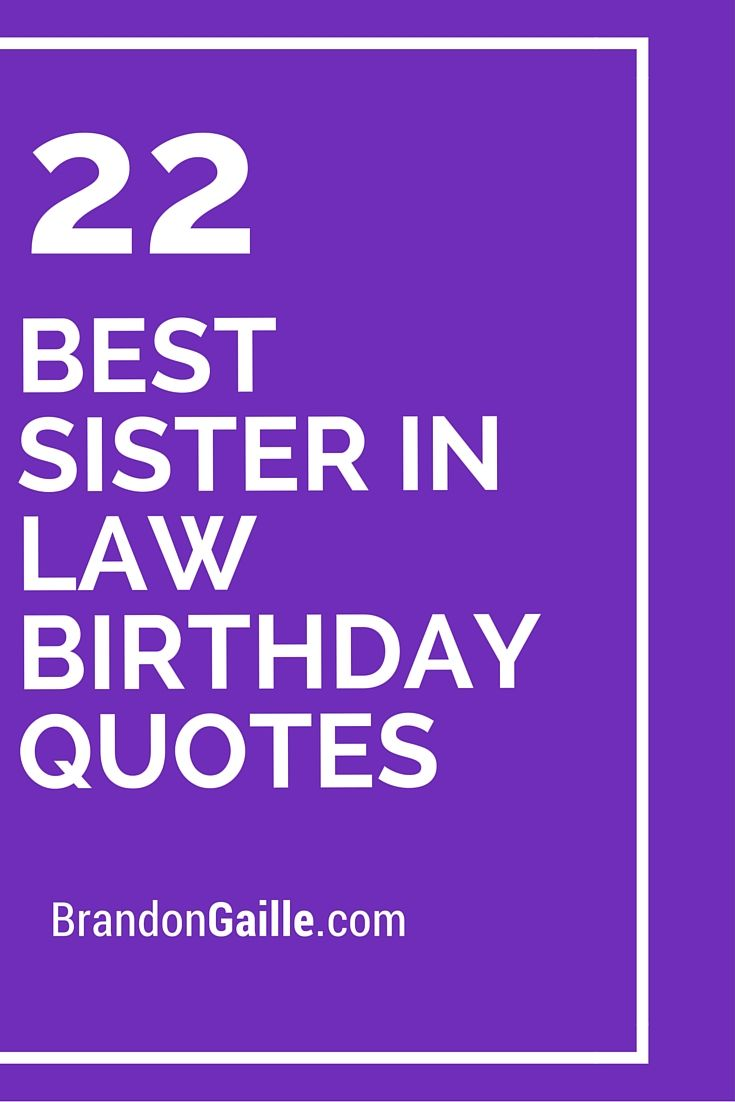 22 Best Sister In Law Birthday Quotes Card Messages Pinterest