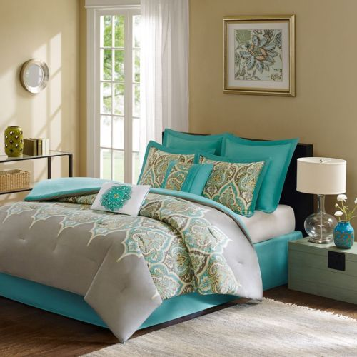 Details About Madison Park Denton Cal King 7pc Comforter