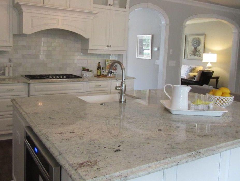 Colonial White Granite For Our Island White Granite Kitchen White Granite Countertops White Granite Countertops Kitchen