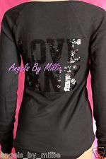 99 Cent VSPINK UnderArmour Auctions Ebay End Sunday Worldwide ShippingVictorias Secret PINK M Medium Black Bling Ribbed Knit Jersey Shirt Sequins New