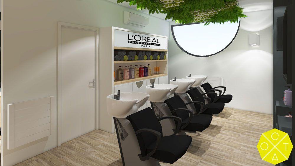 Aménagement d\'un salon de coiffure l\'Oréal // rénovation ...