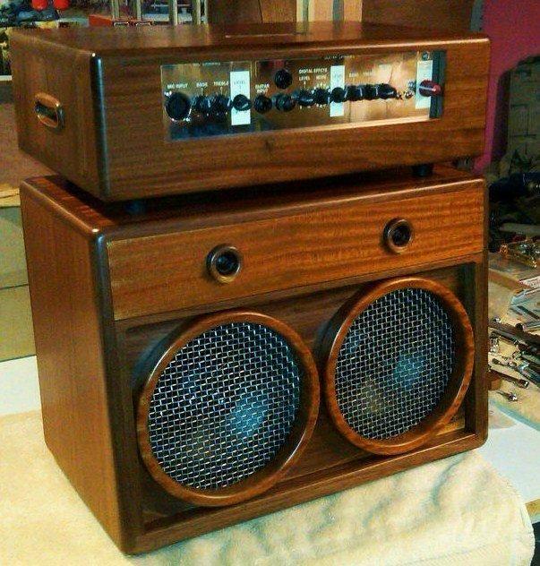 Acoustic Amp Walnut Sapele Guitar Amp Acoustic Guitar Amp Diy Pedalboard