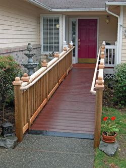 Nice looking ramp (ideas for making our home accessible to friends ...