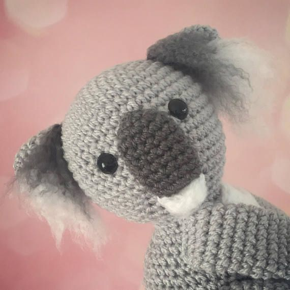 Curtain tie back koala crochet PATTERN , tieback, left or right side ...