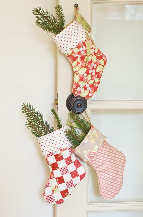 Quilted mini stocking