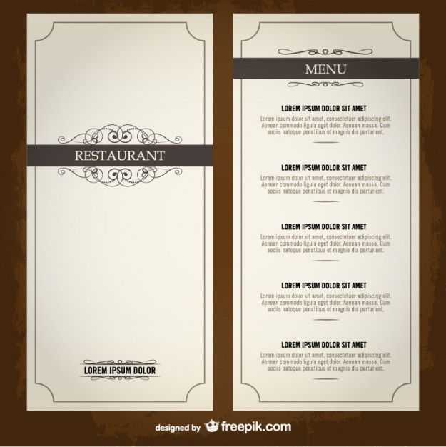 Food menu list restaurant template Architecture Pinterest - free dinner menu templates