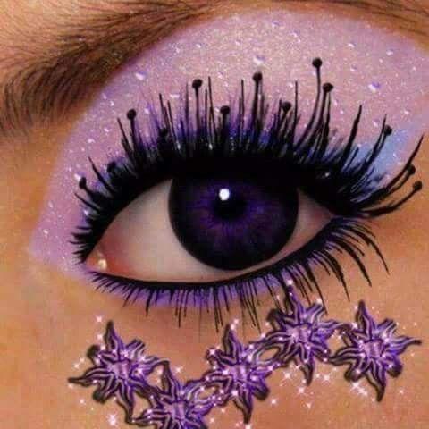 purple imagenina  eye makeup art