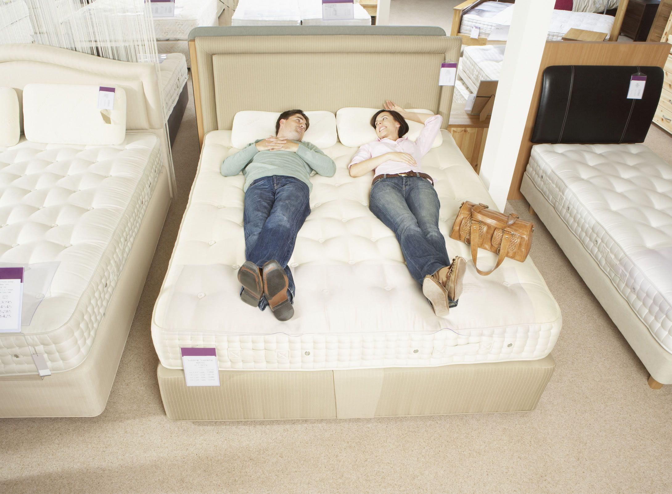 The right mattress is the one where you will feel no