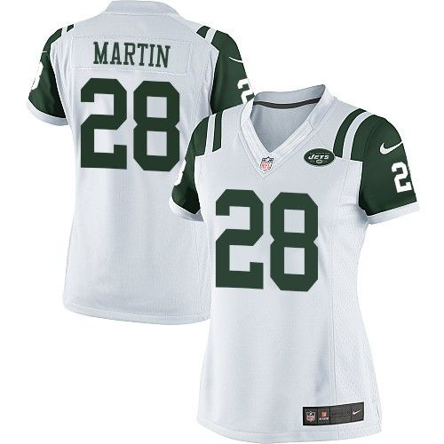 d90d813c7 Nike Elite Curtis Martin White Women's Jersey - New York Jets #28 NFL Road