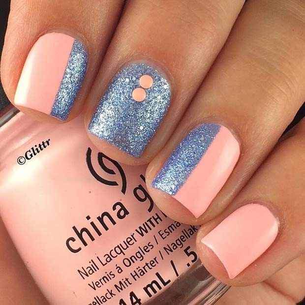 It's time to come out of hibernation girls and make sure your nails are  looking gorgeous, it's nearly summer! Brush the dust off your nail box and  unleash ... - 55 Super Easy Nail Designs In 2016 Nails 2 Pinterest Super