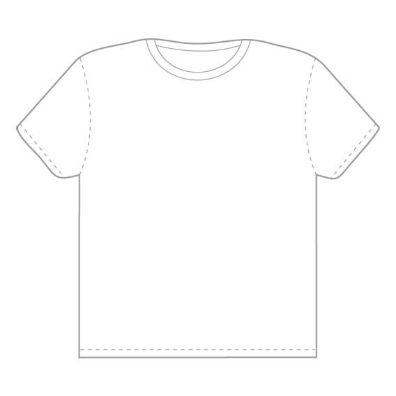 21 Blank T-Shirt Vector Templates Free To Download Projects to - t shirt template