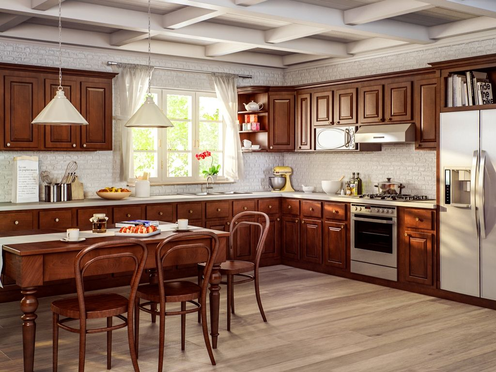 Cnc Sierra Espresso This Standard Reveal Raised Panel Birch Door Comes In Our Value Pric Traditional Kitchen Cabinets Brown Kitchens Kitchen Cabinet Design