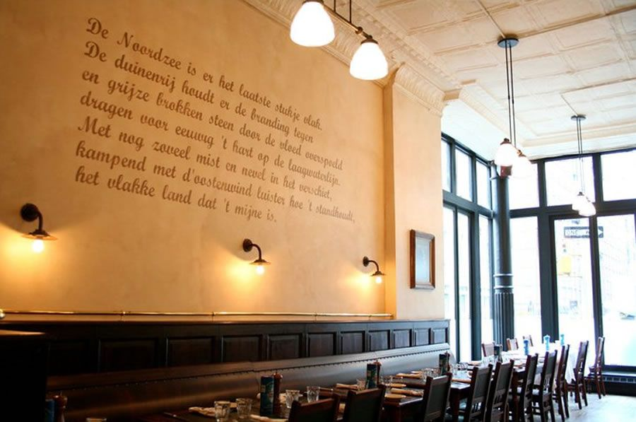 Bistro Wall Art For Restaurant Interior Design Of Belgian Dining Markt New York