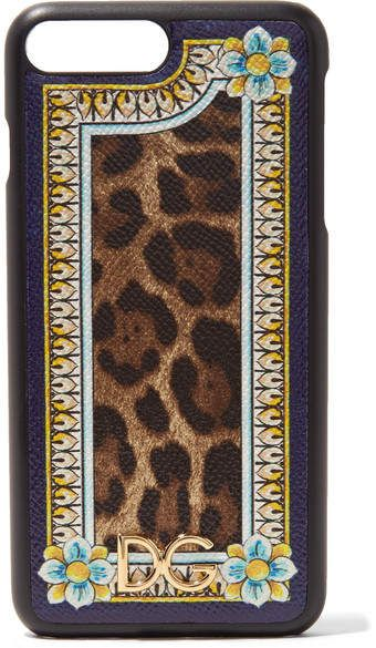 Printed Textured-leather Iphone 7 Plus Case - Leopard print Dolce & Gabbana tGyR2Pa