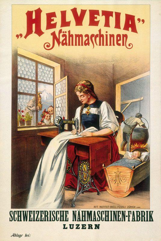 Schweizer Plakat - Vintage - Helvetia