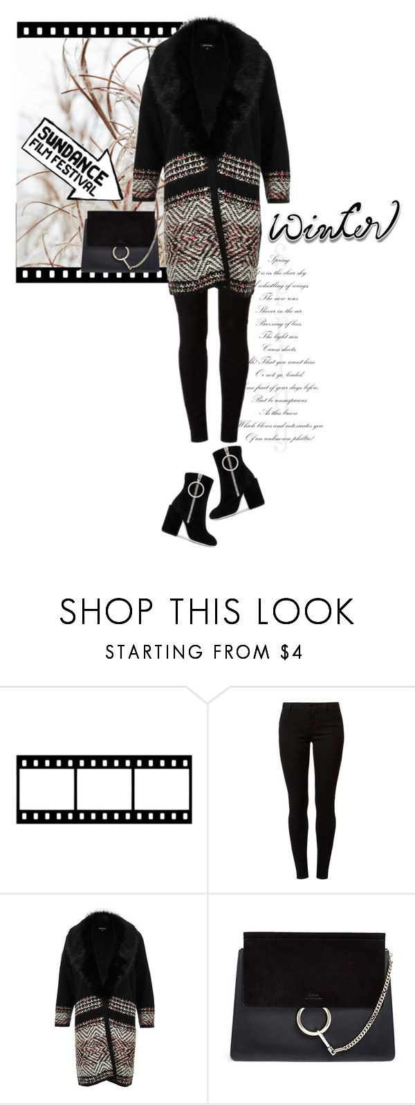 """""""SUNDANCE Film Festival"""" by larizoid ❤ liked on Polyvore featuring Dorothy Perkins, River Island, Chloé and Off-White"""