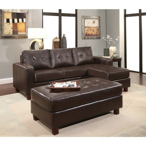Best Abbyson Montgomery Leather Reversible Sectional And 400 x 300
