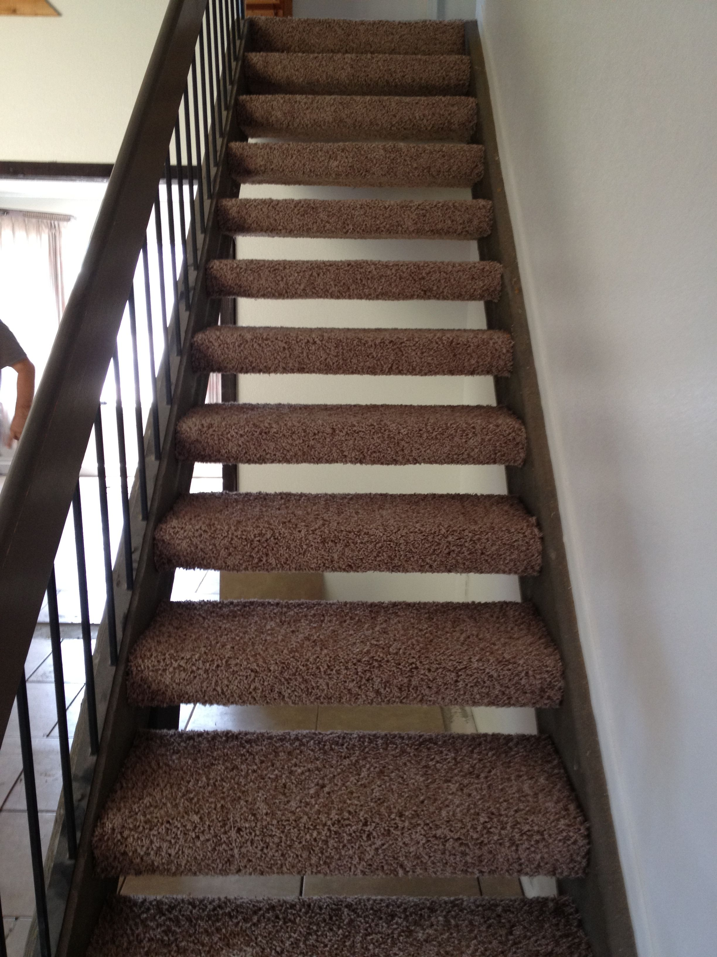 Best Astonishing Wooden Floating Stairs With Brown Carpet 400 x 300