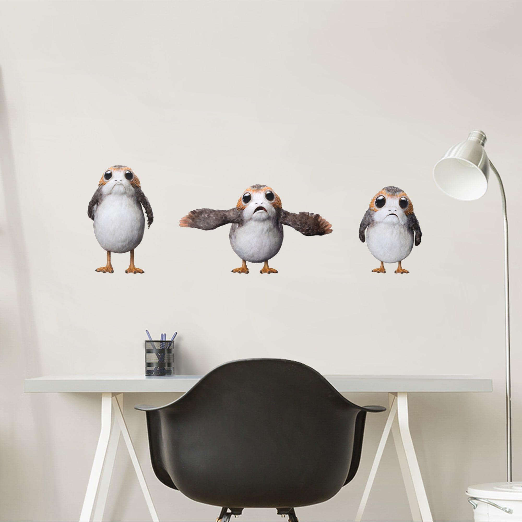 Porgs Collection Star Wars The Last Jedi X Large Officially Licensed Removable Wall Decals Removable Wall Decals Large Wall Decals Removable Wall