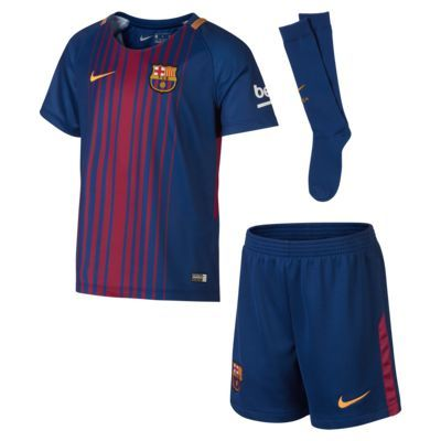 91ef2a63f Find the 2017 18 FC Barcelona Stadium Home Younger Kids  Football Kit at  Nike.com. Free delivery and returns.