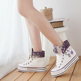 Shoes Korean shoes canvas shoes women students ' shoes leisure shoes high-card surge thick