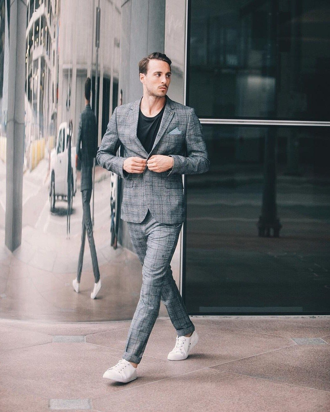 ways to team up suits with sneakers menus fashion