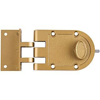 Sumbin Night Latch Lock Zinc Cylinder With Latch Bolt Gold Finish Amazon Com Door Locks Cylinder Deadbolt