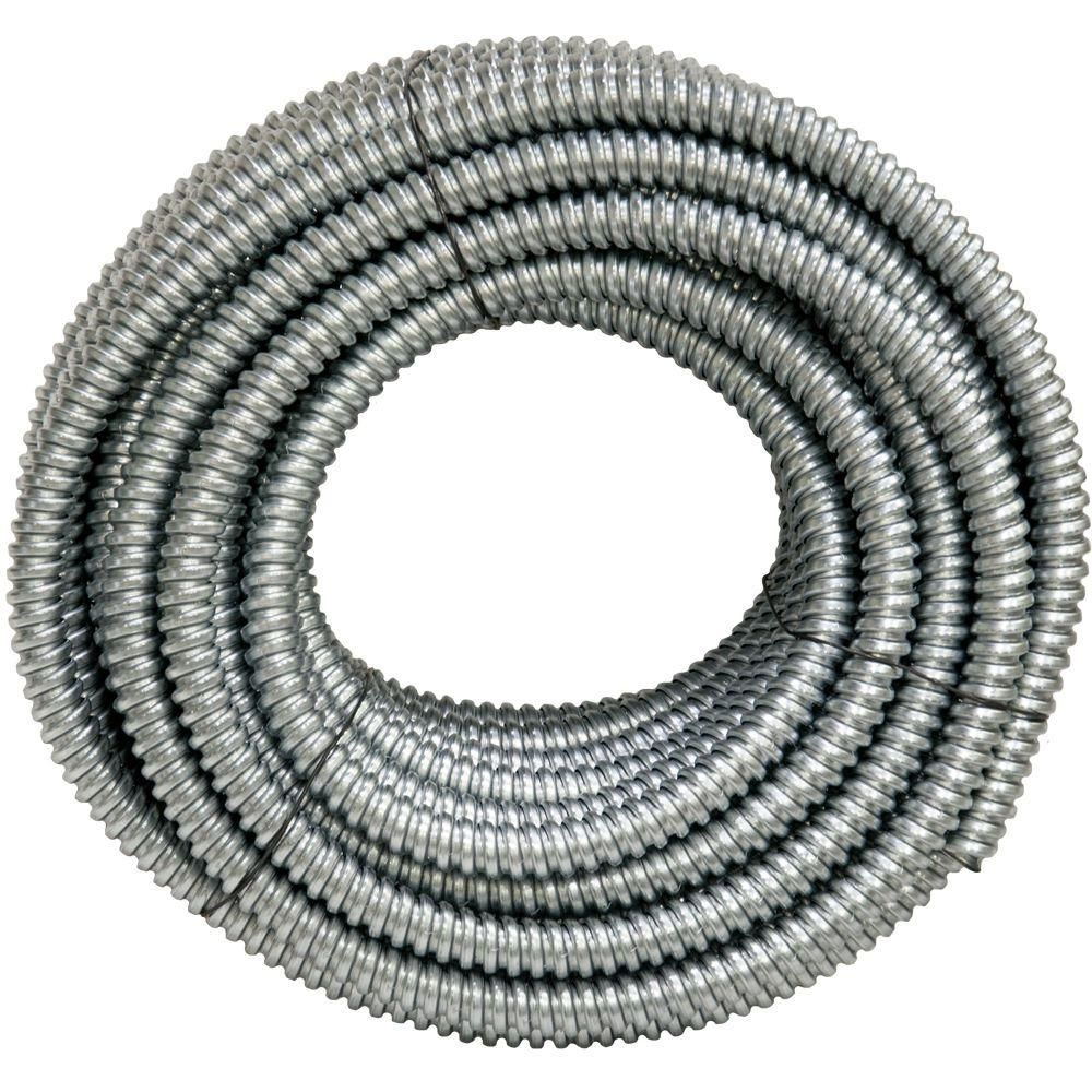 Afc Cable Systems 1 2 X 100 Ft Flexible Steel Conduit 5203 30 00 The Home Depot Electrical Cables The Conduit Steel