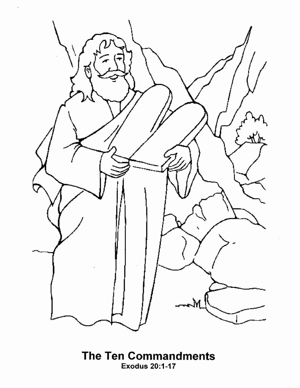 27 Marvelous Picture Of 10 Commandments Coloring Pages Coloring