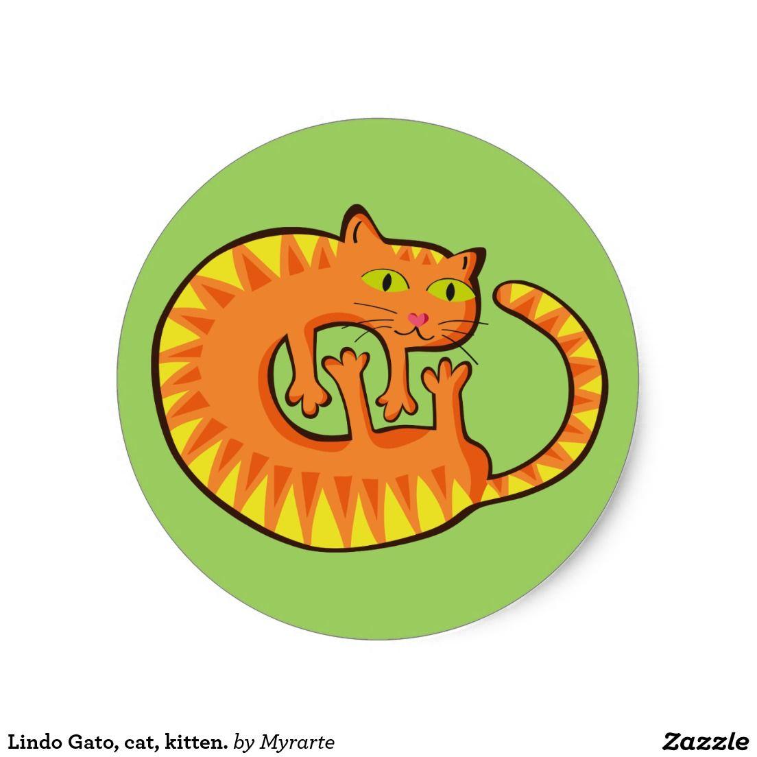 Lindo Gato, cat, gatito. Producto disponible en tienda Zazzle. Product available in Zazzle store. Regalos, Gifts. Link to product: http://www.zazzle.com/lindo_gato_gato_gatito_pegatina_redonda-217975988126454906?lang=es&CMPN=shareicon&social=true&rf=238167879144476949 #sticker #cat #gato #kitten