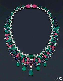 Dutch Royal Jewels - HM Queen Maxima's Tutti-Fruiti Necklace