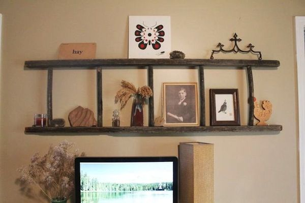 30 Cute Ladder Shelf Examples Ladder Shelf Decor Repurposed