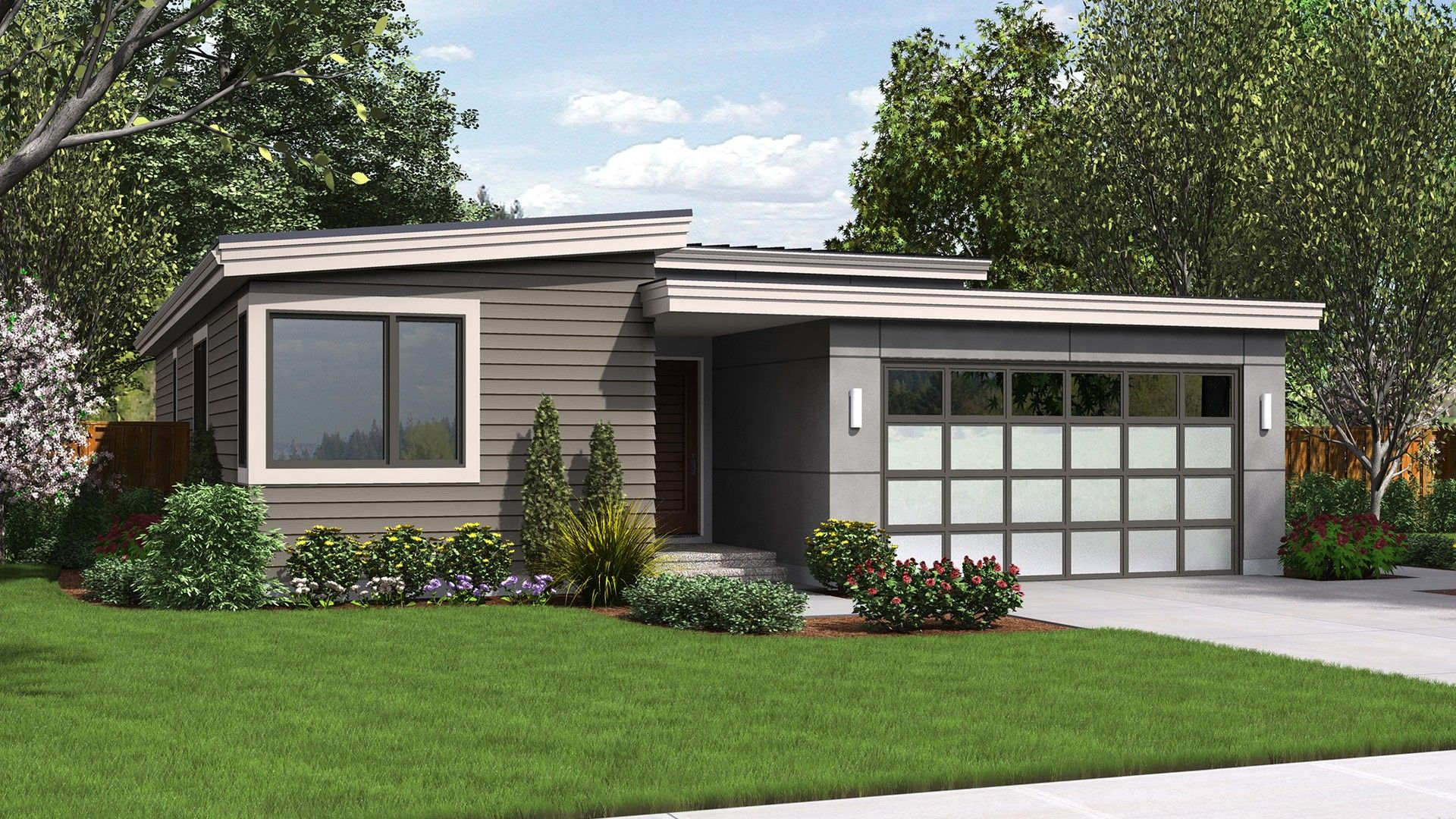 Alan Mascord Design Associates Plan 1164es Front Rendering Contemporary House Plans Narrow Lot House Plans Modern Style House Plans