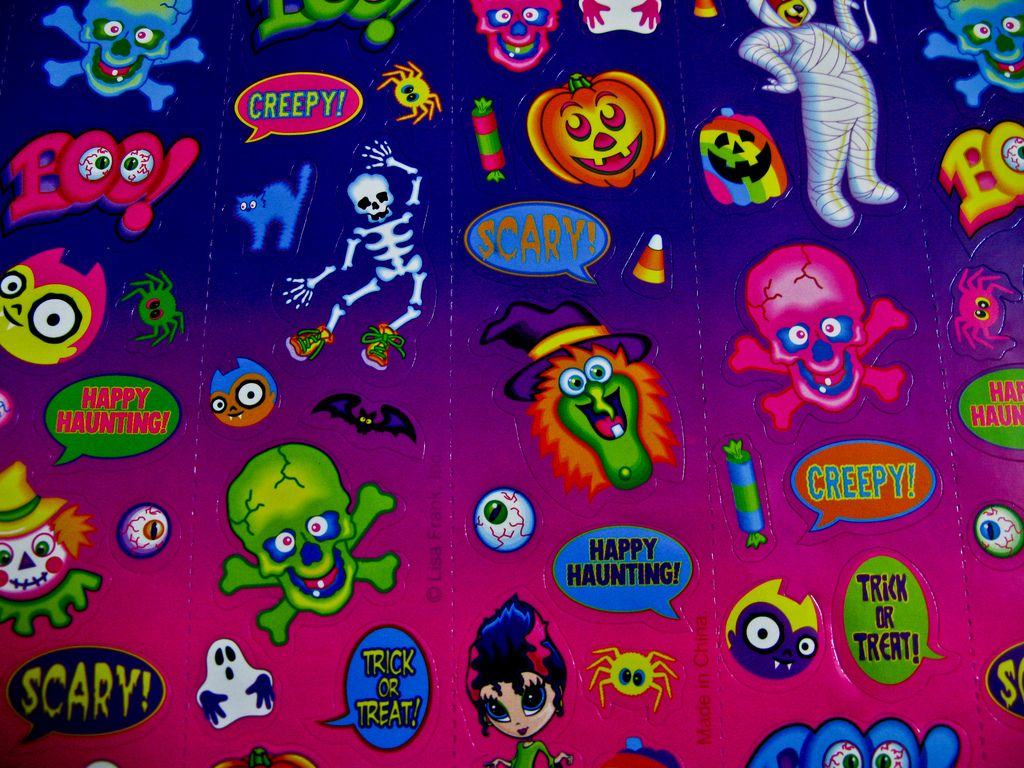 Pin By John Wesley Graham On Lisa Frank Lisa Frank Lisa Frank Stickers Halloween Stickers