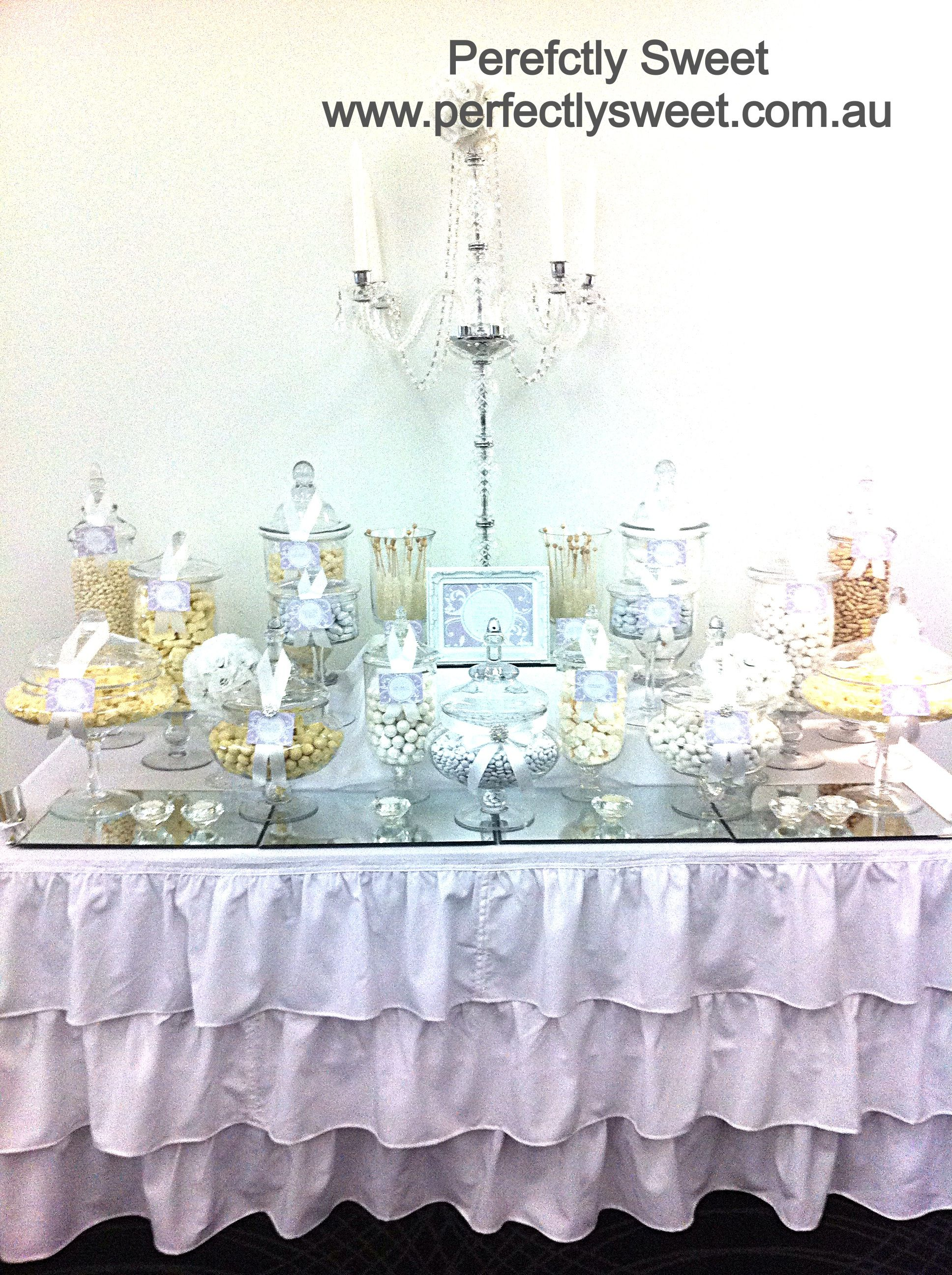 White Wedding Lollie Buffet Candy Buffet Pinterest Buffet