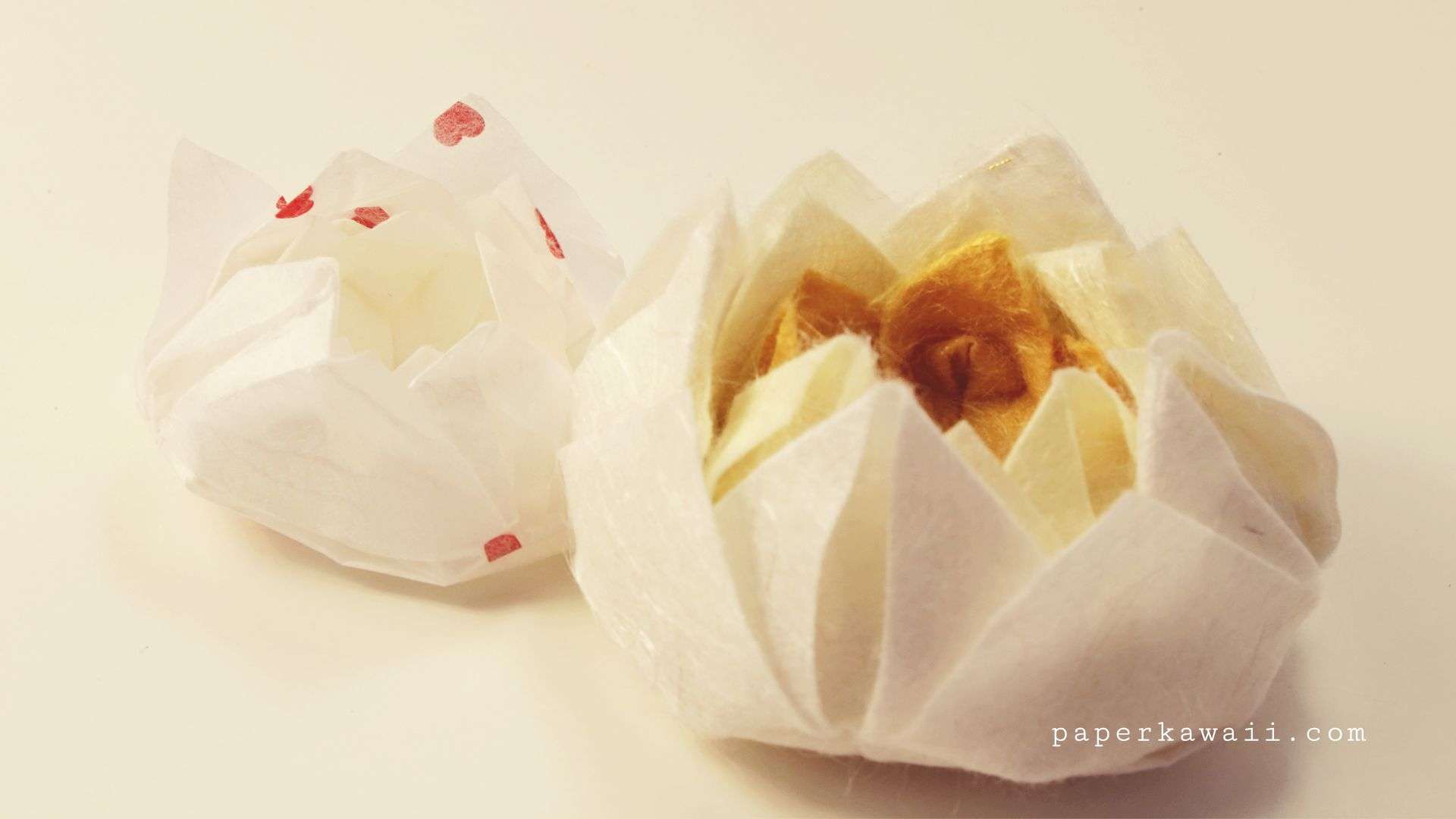 Easy Origami Lotus Video Tutorial Simple Origami Easy Origami And