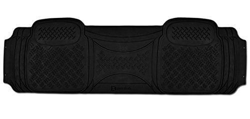 Zento Deals 1 Piece Car Diamond Black Floor Mat Universal Fit Heavy Duty Rubber Runner Vehicle Floor Mat Parts And Accessories Cargo Liner Car Floor Mats
