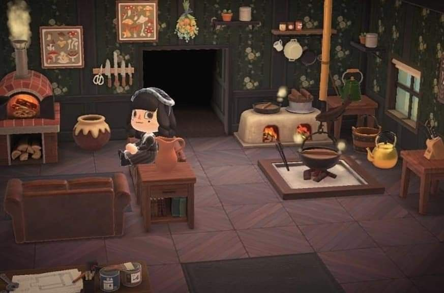 Animal Crossing New Horizons witchy kitchen living room in ... on Living Room Ideas Animal Crossing New Horizons  id=96174