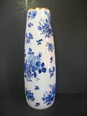Vintage Royal Porzellan Bavaria Germany Kpm Blue White Floral Porcelain Vase Kpm Berlin