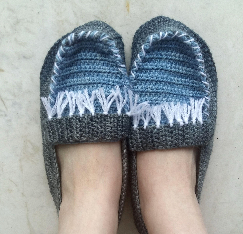 Moccasin slippers crochet pattern by Myaccessorybox on ...