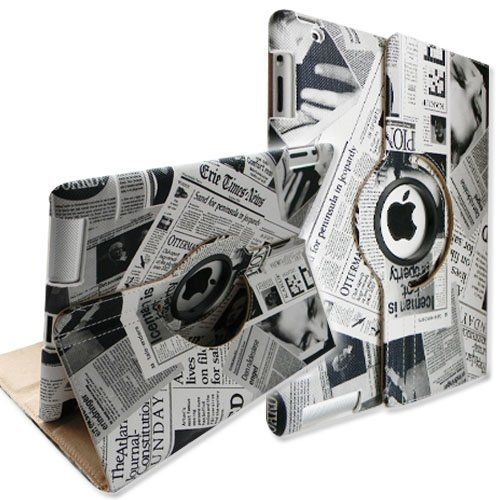 FINTIE® (Newspaper Design) 360 Degrees Rotating Stand Smart Cover PU Leather Case for the new iPad 3 / iPad 2 (Wake/Sleep) by FINTIE, http://www.amazon.com/gp/product/B0066KFVPC/ref=cm_sw_r_pi_alp_8hylqb1G5FVEZ