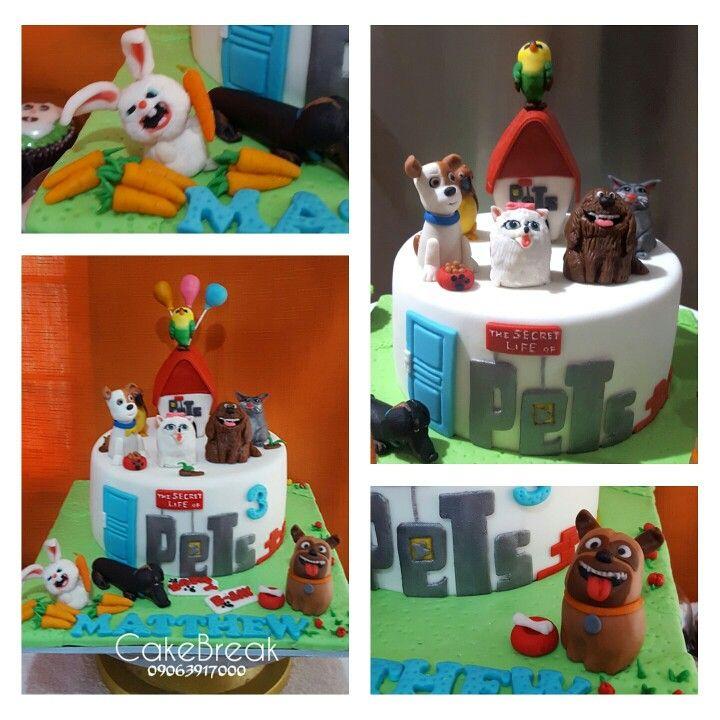The Secret Life Of Pets Cake Gateau Comme Des Betes Halloween