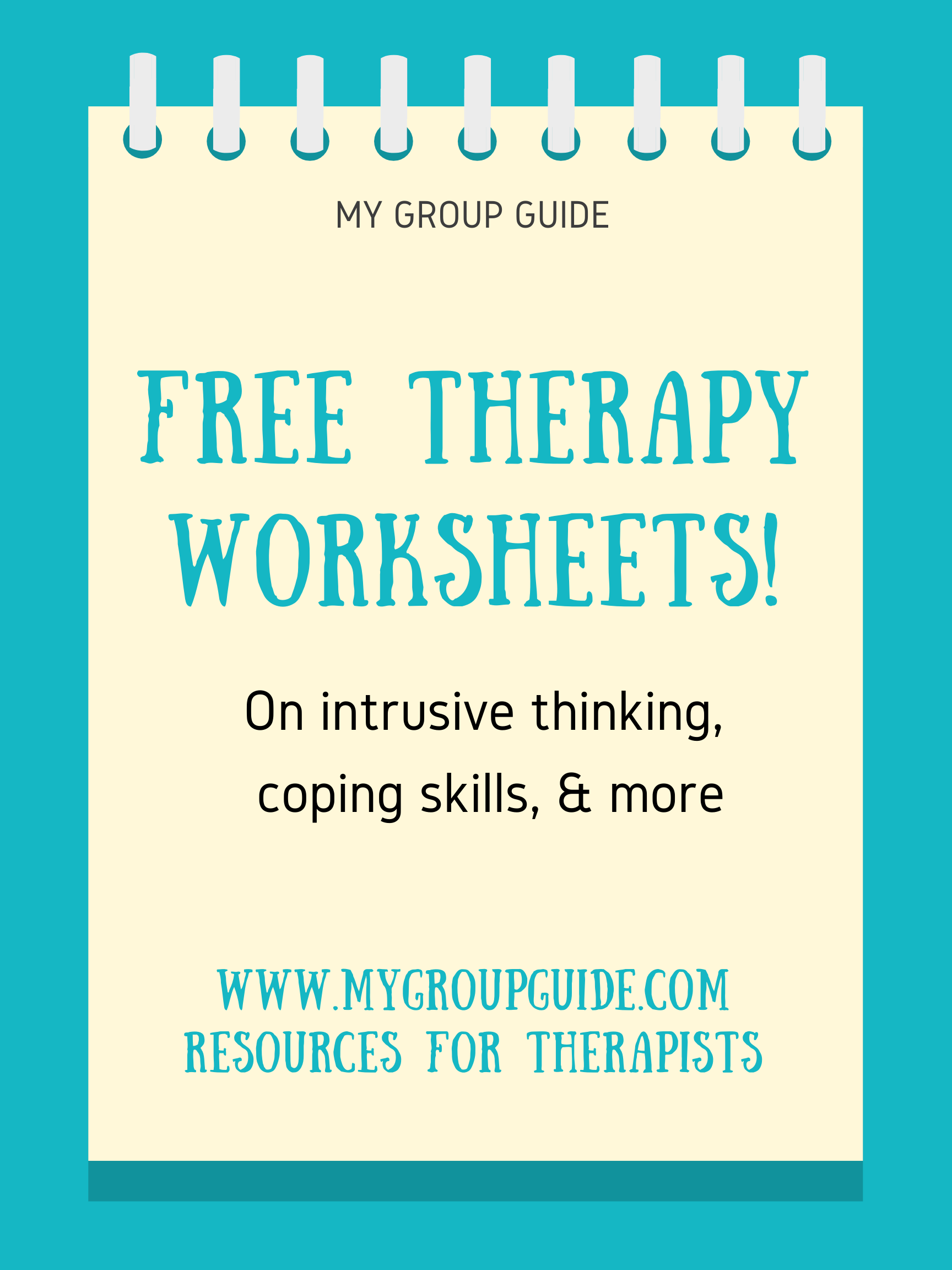 My Group Guide Free Therapy Worksheets In