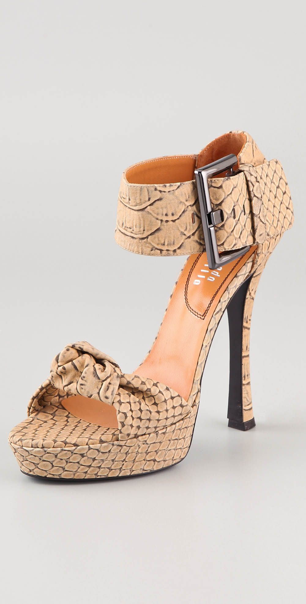 Edmundo Castillo Python Platform Sandals cheap hot sale 5DJpEUWZbM
