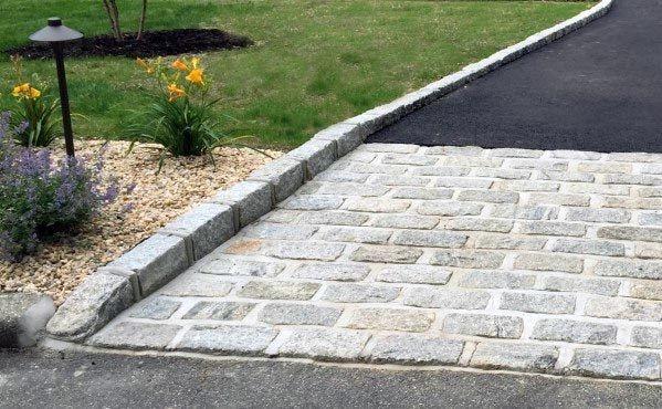 Top 40 Best Driveway Edging Ideas Inviting Border Designs Driveway Edging Stone Driveway Driveway Landscaping